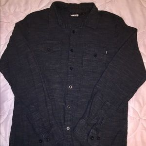 Charcoal Vans Collared Long Sleeve Button Down
